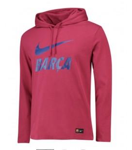 Mikina s kapucí FC Barcelona - červená