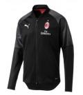 Tréninková mikina na zip AC Milán - černá