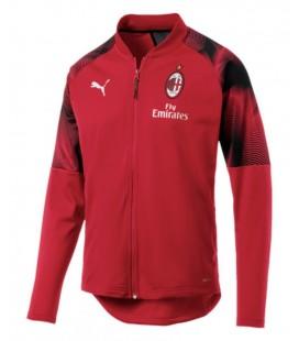 Tréninková mikina na zip AC Milán