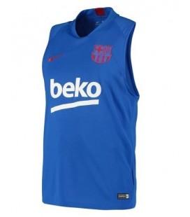 Tréninkový dres bez rukávů FC Barcelona - modrá