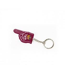 Přívěsek na klíče FC Barcelona - ruka
