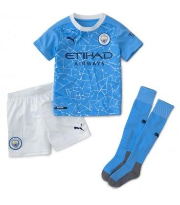 Manchester City domácí dětský fotbalový dres + trenýrky + stulpny