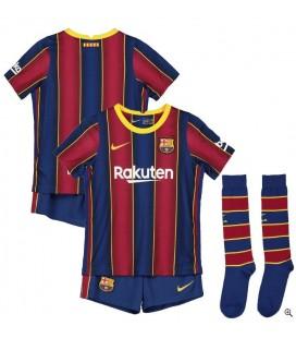 FC Barcelona domácí dětský fotbalový dres + trenýrky + stulpny