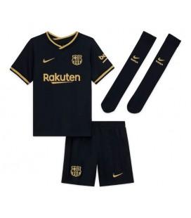 FC Barcelona venkovní dětský fotbalový dres + trenýrky + stulpny