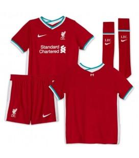 FC Liverpool domácí dětský fotbalový dres + trenýrky + stulpny