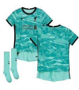 FC Liverpool venkovní dětský fotbalový dres + trenýrky + stulpny