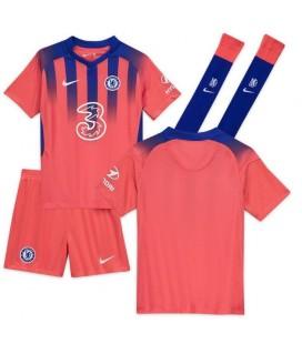 Chelsea Londýn třetí dětský fotbalový dres + trenýrky + stulpny