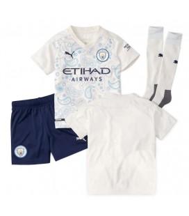 Manchester City třetí dětský fotbalový dres + trenýrky + stulpny