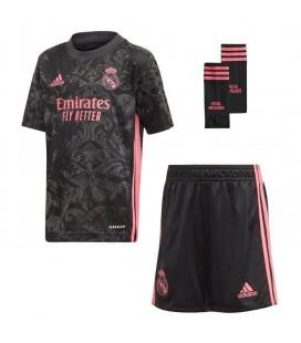 Real Madrid třetí dětský fotbalový dres + trenýrky + stulpny