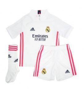 Real Madrid domácí dětský fotbalový dres + trenýrky + stulpny