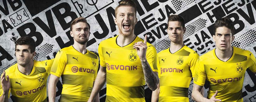 2017/18 dresy PUMA Borussia Dortmund debutujú s Pure Emotion