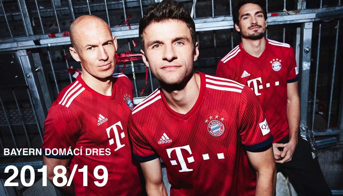 Nové dresy Bayern Mnichov 2018/19